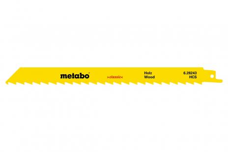 5 Sabre saw blades,wood,classic,225 x 1.25 mm (628244000)