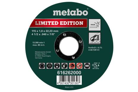 Limited edition 115 x 1.0 x 22.23 Inox, TF 41 (616262000)
