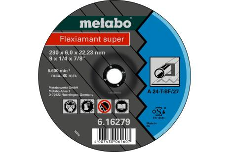 Flexiamant super 115x6.0x22.23 steel, SF 27 (616275000)