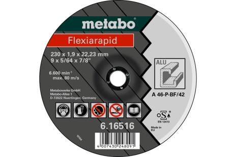 Flexiarapid 180 x 1.6 x 22.23 mm, aluminium, TF 42 (616515000)