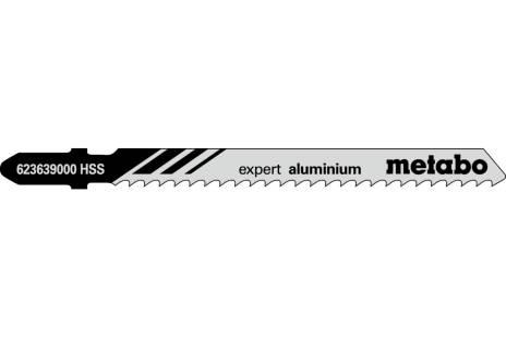 """5 Jigsaw blades """"expert aluminium"""" 74/3.0mm (623639000)"""