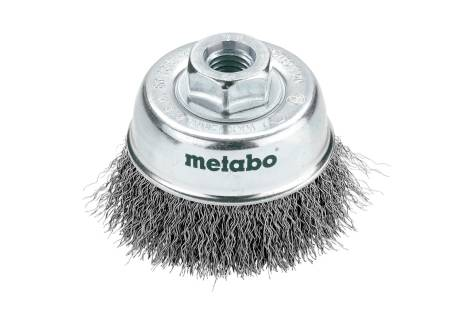 Cup brush 75x0.3 mm/ M 14, steel-wire, crimped (623715000)