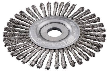 Wheel brush 125x0.5x6 /22.23 mm, steel-wire, twisted (626815000)