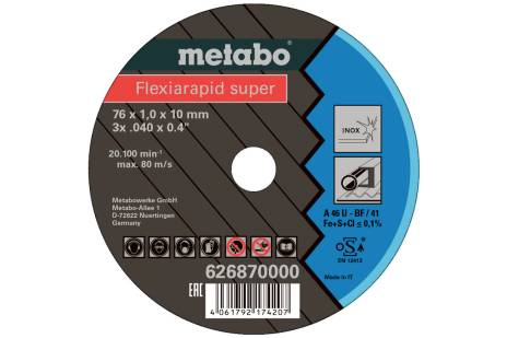 5 Flexiarapid Super 76x1.0x10.0 mm Inox, TF 41 (626870000)