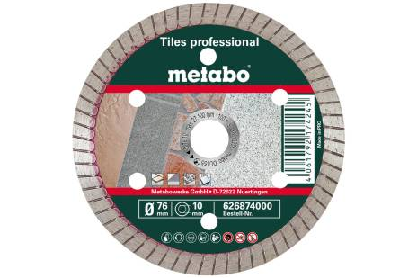 "Diamond cutting disc 76x10mm, ""TP"", tiles ""professional"" (626874000)"