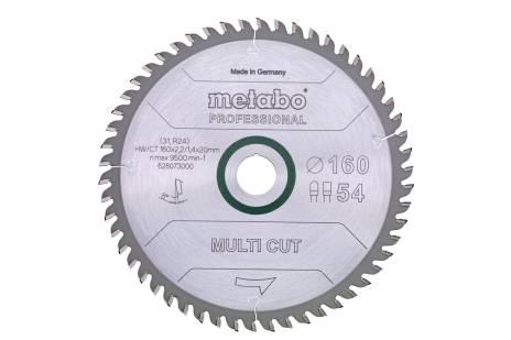 """Saw blade """"multi cut - professional"""", 165x20 Z54 FZ/TZ 5° (628293000)"""