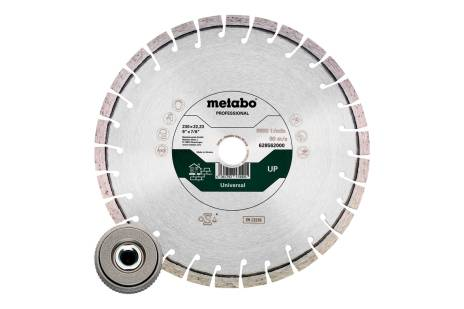 "Set: 1xDiamond cutting disc 230x22.23mm, ""UP"" + 1x quick adjusting nut M14 (628583000)"