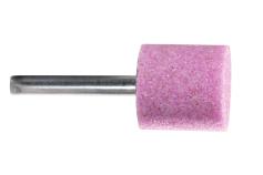 Pink aluminium mounted point 25 x 25 x 40 mm, shank 6 mm, K 36, cylinder (628331000)