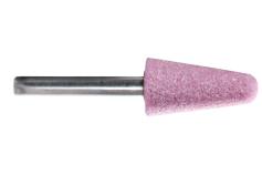 Pink aluminium mounted point 16 x 32 x 40 mm, shank 6 mm, K 46, cone (628332000)