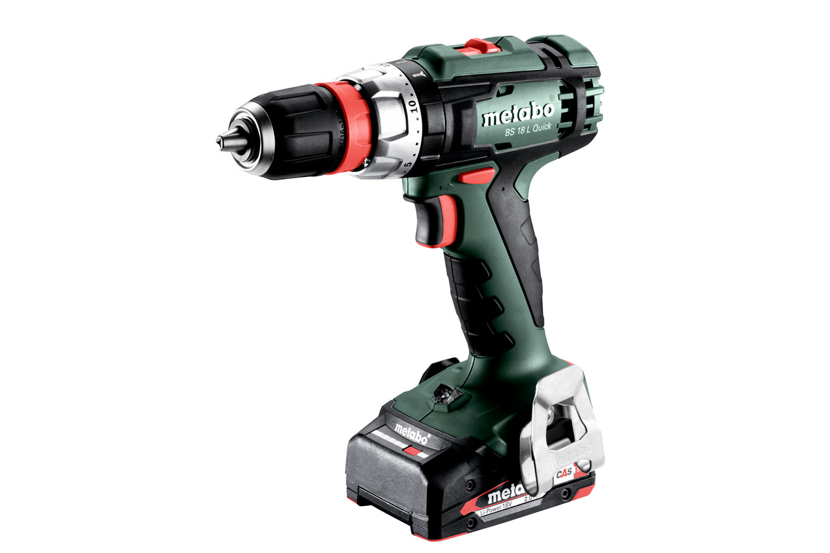 bs 18 l quick 602320500 cordless drill screwdriver metabo power tools. Black Bedroom Furniture Sets. Home Design Ideas