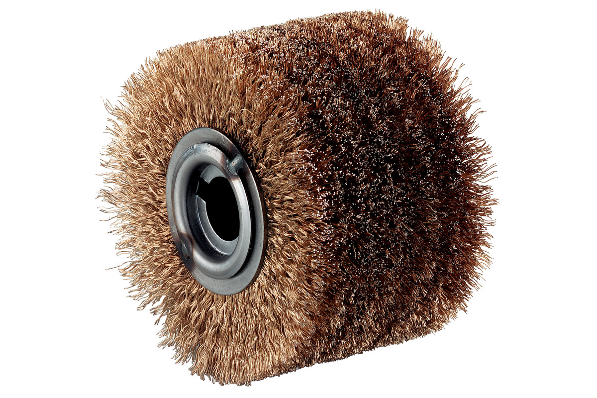 "Steel-wire wheel brush, 4 x 2 3/4"" (623501000)"