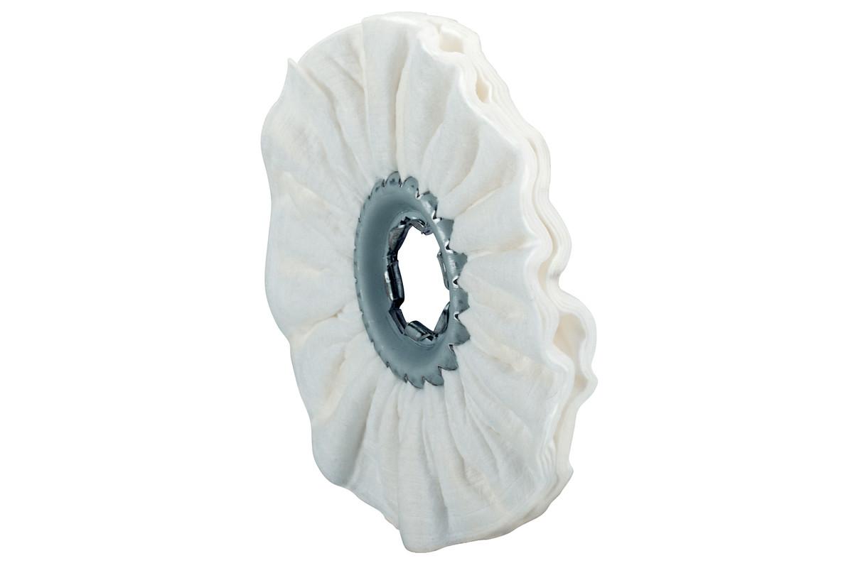 """8 Nylon web polishing rings, soft, 4 x 3/8"""" (623509000)"""