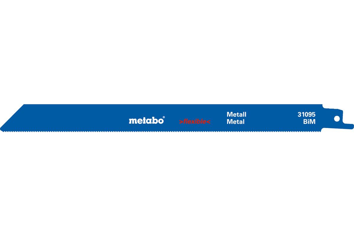 5 Reciprocating saw blades, metal, flexible, 225 x 0.9 mm (631493000)