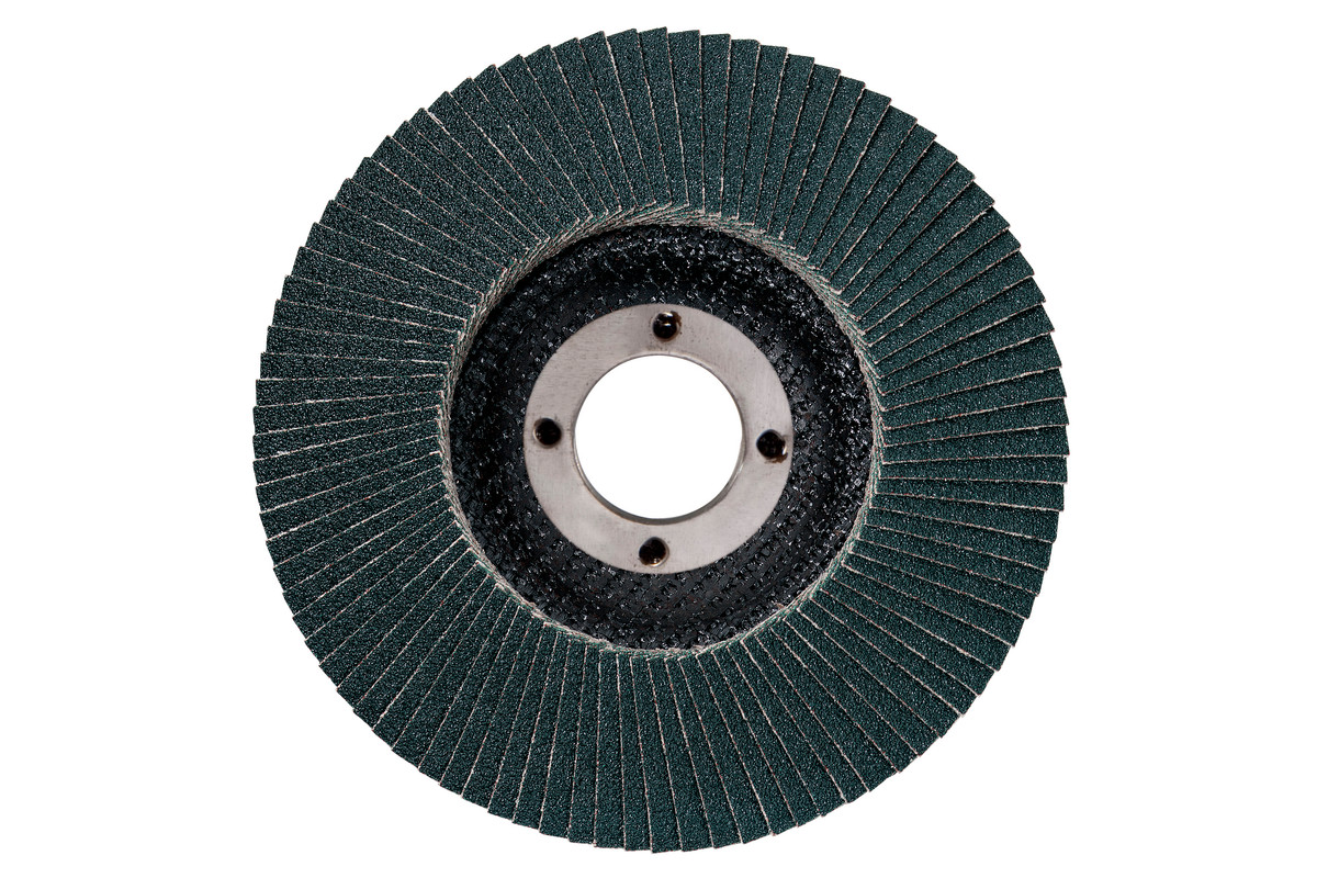 "Flexiamant Flap Disc 4-1/2"" x 5/8""-11, Type 27, Grit: 120 (656426000)"