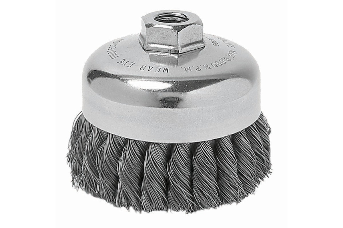 "Wire Wheel Brush 6"" x 5/16"" x 1-3/8"" x 5/8""-11, Stainless (655218000)"