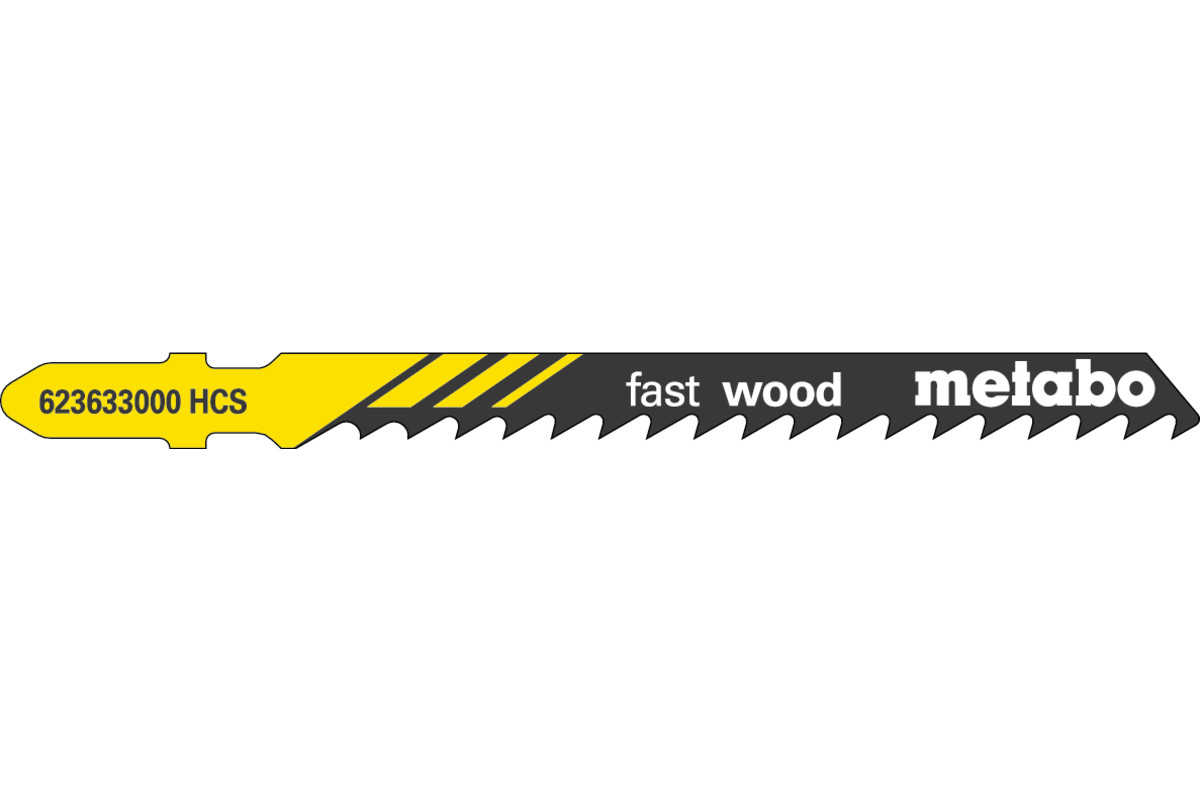 "5 Jigsaw blades ""fast wood"" 74/ 4.0 mm (623633000)"
