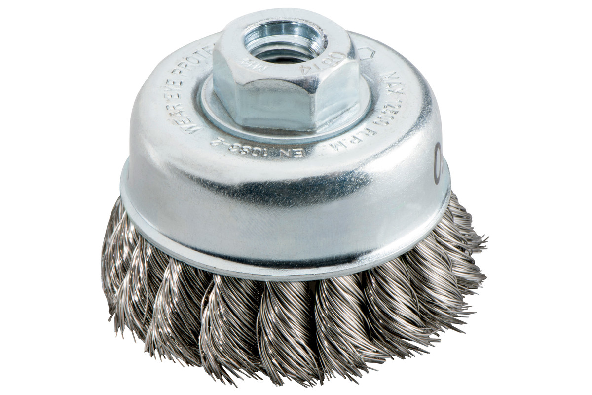 "Cup brush 65x0.5 mm / 5/8"", steel, knotted (623804000)"