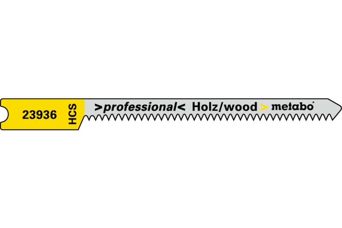 5 U-jigsaw blades, wood, profess. 52/1.3mm (623936000)