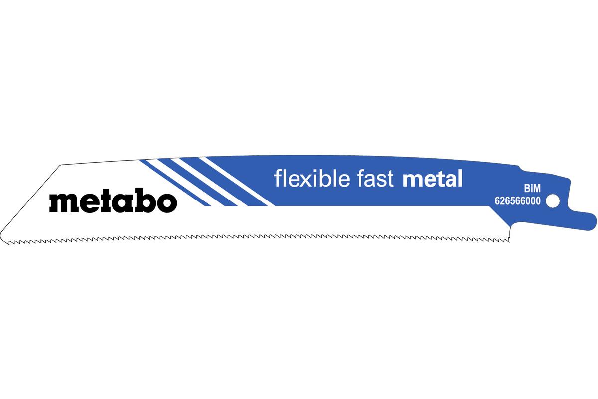 "5 ""Flexible fast metal"" reciprocating saw blades 150 x 0.9 mm (626566000)"
