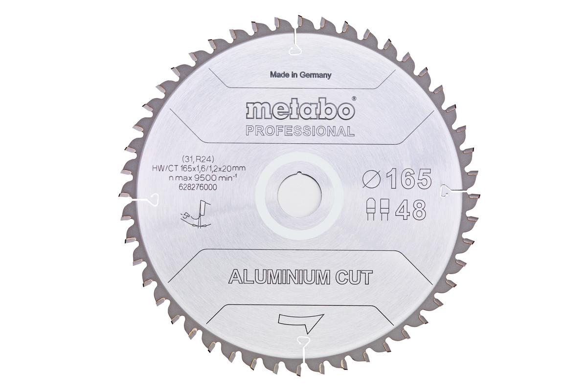 "Saw blade ""aluminum cut - professional"", 165x20 Z48 FZ/TZ 5°neg (628276000)"