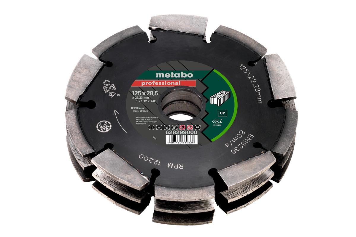 "Diamond cutting disc 3, 125x28,5x22,23mm, ""professional"", ""UP"", Universal (628299000)"