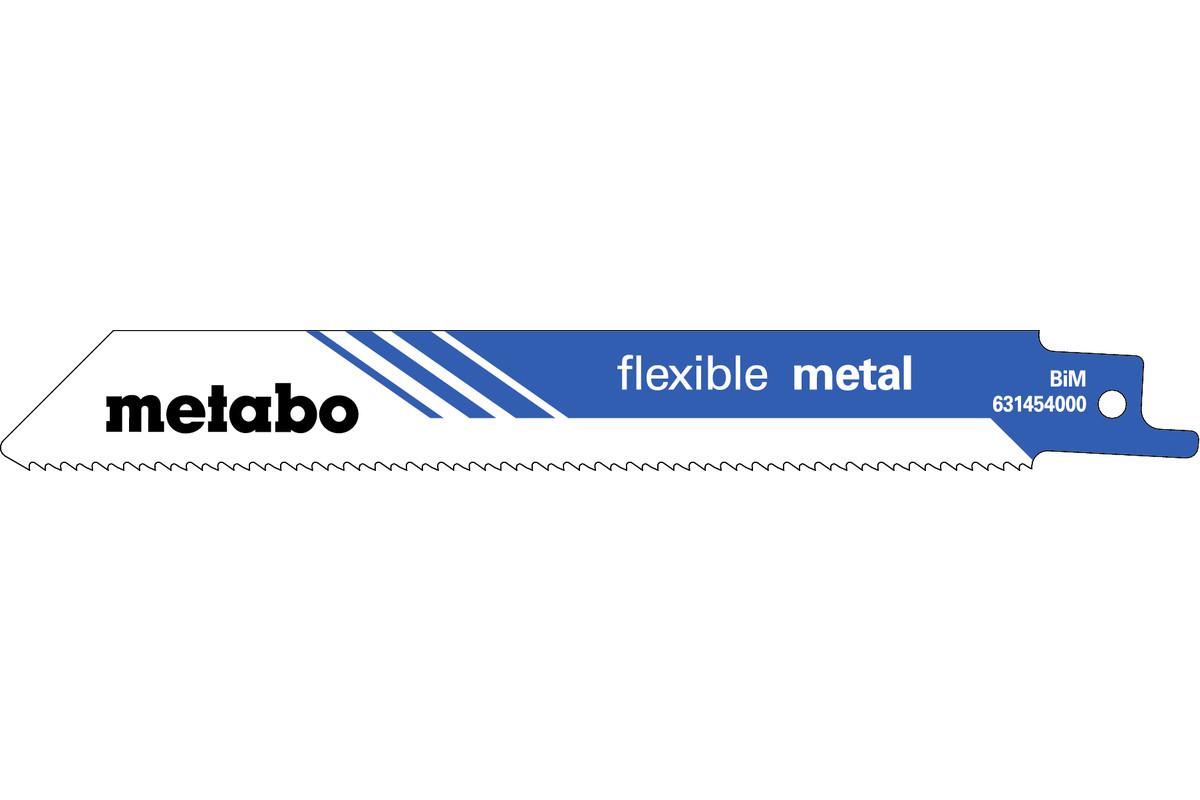 "5 Reciprocating saw blades ""flexible metal"" 150 x 0.9 mm (631454000)"