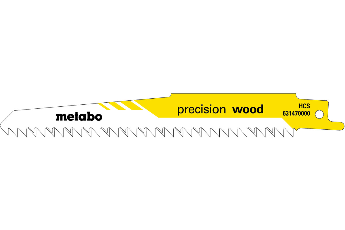 "5 Reciprocating saw blades ""precision wood"" 150 x 1.25 mm (631470000)"