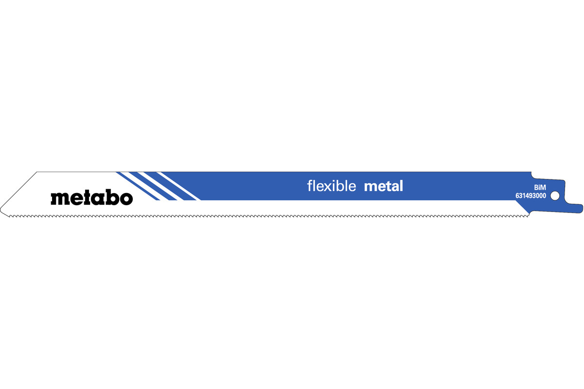 "5 Reciprocating saw blades ""flexible metal"" 225 x 0.9 mm (631493000)"
