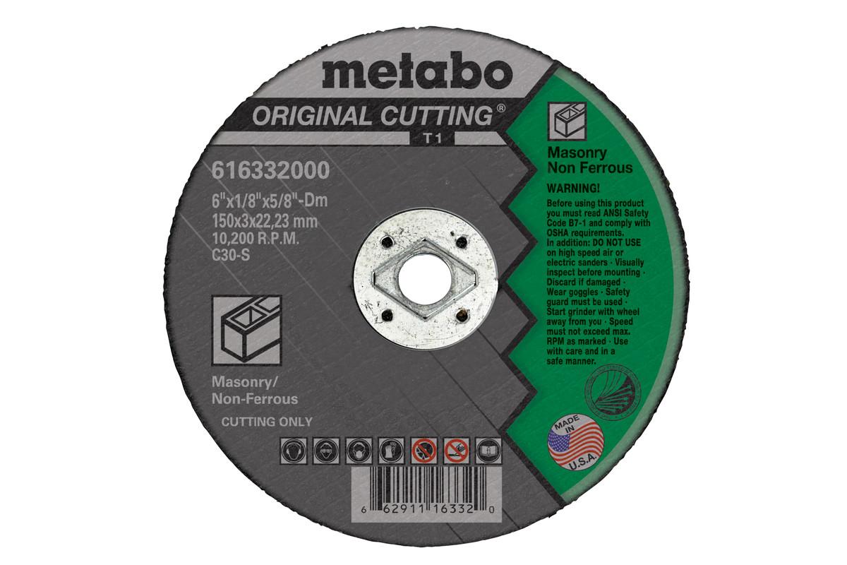 """Original Cutting 7"""" x 1/8"""" x 5/8"""" Dm, Type 1, C30S (616334000)"""
