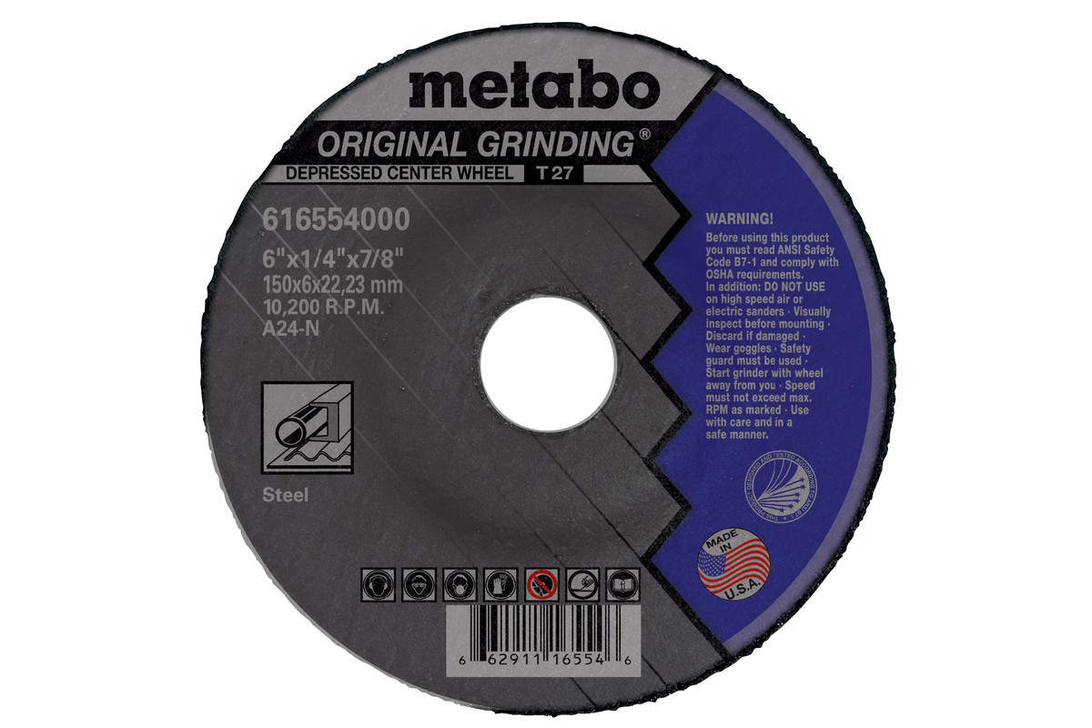 "Original Grinding 9"" x 1/4"" x 7/8"", Type 27, A24N (US616572000)"
