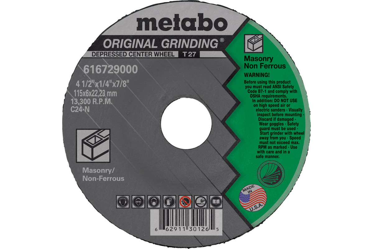 "Original Grinding 9"" x 1/4"" x 5/8""-11, Type 27, C24N (655672000)"