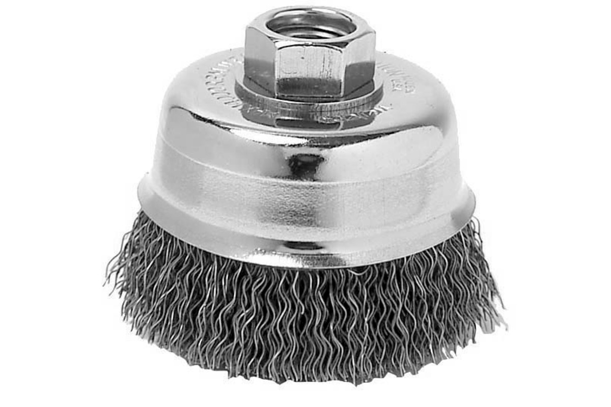 "Small Wire Cup Brush Stainless 3-1/2"" x 1-1/4"" x 5/8""-11 (655205000)"