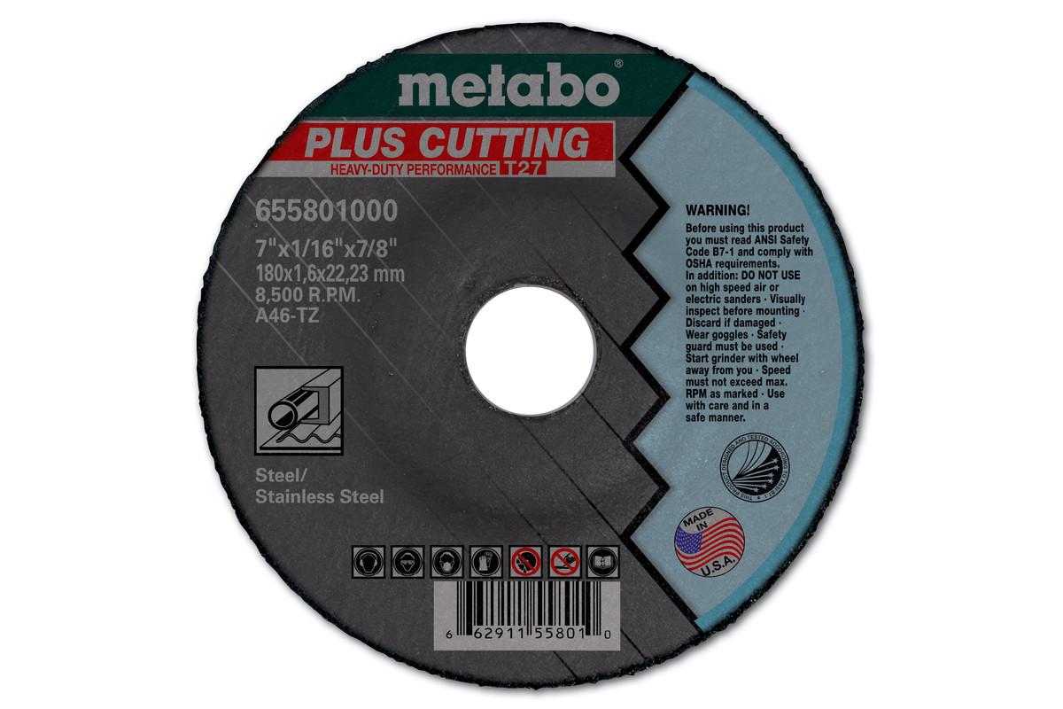 """Plus-Z Grinding/Notching/Cutting 6"""" x 1/8"""" x 7/8"""", Type 27, ZA24T (616794420)"""