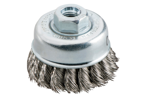 Cup brush 65x0.35 mm / M 14, stainless steel, knotted (623801000)