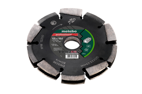 "Diamond cutting disc 2, 125x18x22,23mm, ""professional"",""UP"", Universal (628298000)"