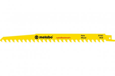 5 Reciprocating saw blades, wood, profes, 240 x 1.5 mm (631490000)