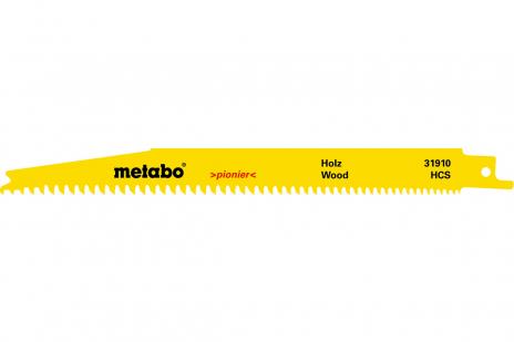 5 Reciprocating saw blades, wood, pioneer, 200 x 1.25 mm (631913000)