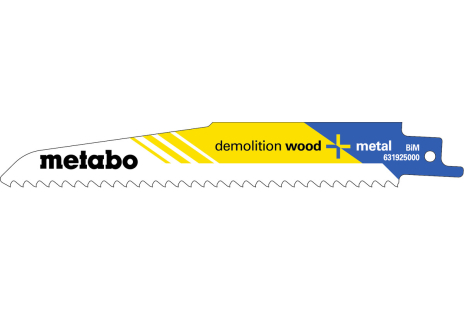 5 Reciprocating saw blades, W+M, profes. 150 x 1.6 mm (631925000)