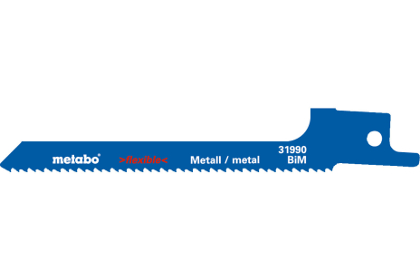 5 Reciprocating saw blades,metal,flexible,100 x 0.9 mm (631990000)