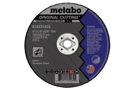 "Original Cutting 7"" x 1/8"" x 5/8"" DM, Type 1, A30S (616333000)"
