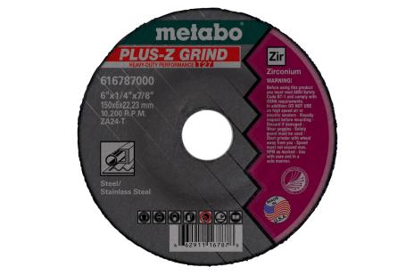 "Plus-Z Grinding 6"" x 1/4"" x 7/8"", Type 27, ZA24T (616787000)"