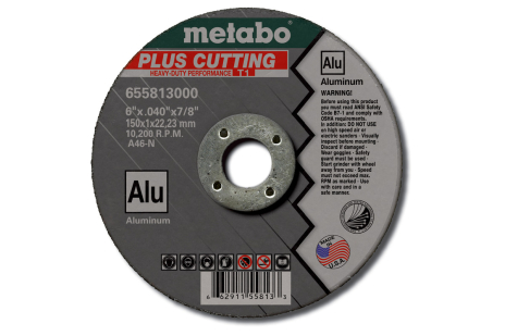 "Plus-Alu 5"" x .040"" x 7/8"", Type 1, A46N (655812000)"