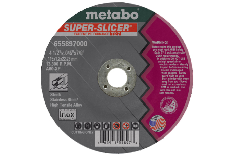 "Super Slicer 5"" x .045"" x 7/8"", Type 27, A60XP (655898000)"