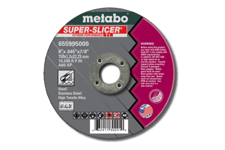 "Super Slicer 4"" x .040"" x 3/8"", Type 1, A60XP (655452000)"