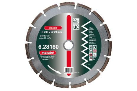 "Diamond cutting disc, 4 1/2 x 7/8"", ""classic"", ""UC"", universal (628156000)"
