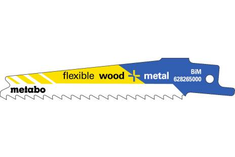 "5 Reciprocating saw blades ""flexible wood + metal"" 100 x 0.9 mm (628265000)"