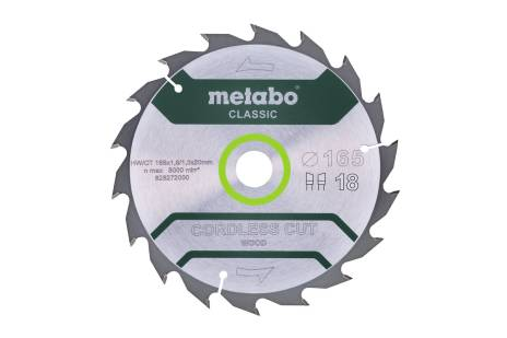 """Saw blade """"cordless cut wood - classic"""", 165x20 Z18 WZ 20° (628272000)"""