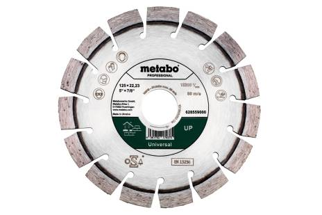 "Diamond Cutting Disc 125x21.23mm, ""UP"", Universal ""professional"" (628559000)"