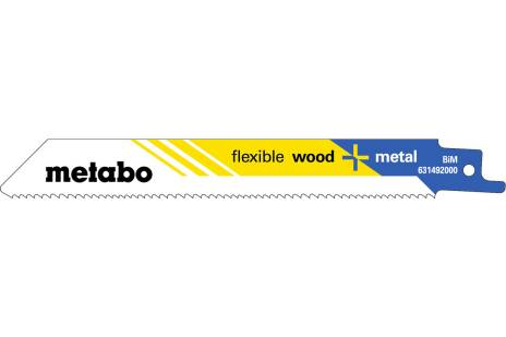 "5 Reciprocating saw blades ""flexible wood + metal"" 150 x 0.9 mm (631492000)"