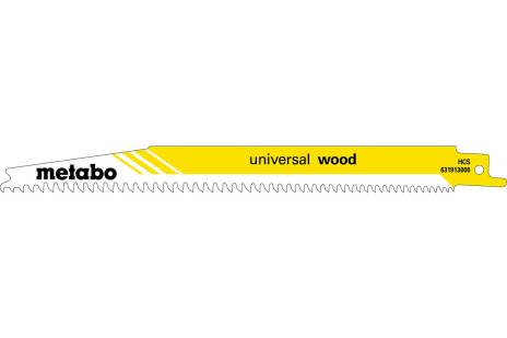 "5 Reciprocating saw blades ""universal wood"" 200 x 1.25 mm (631913000)"